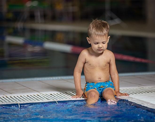 kid at pool